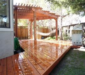 Decks for Redwood patio cover