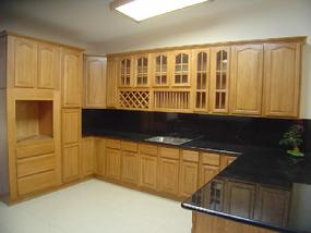 Custom cabinets and granite countertop.