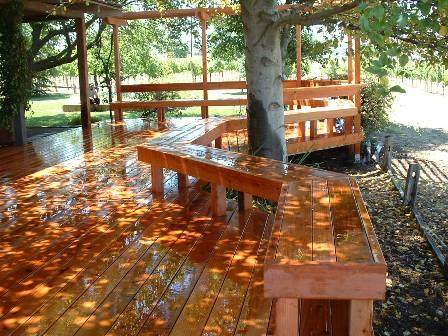 Redwood Deck & Benches